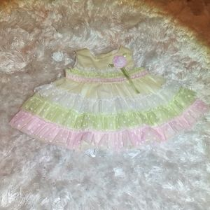 Rare Editions Ruffle dress 18 months